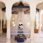 17-4145traditional-rajput-columns-and-cuspid-arches-in-tented-guest-bedroom-samode-india-posters1